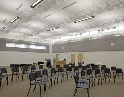 New Hampstead High School band room